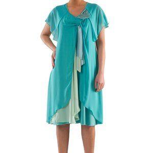 Plus Size Flowing Chiffon Dress - La Mouette